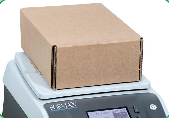 Integrated 5 lb weighing platform