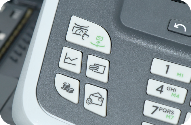 Shortcut keys eliminate extra keystrokes for efficient mail processing