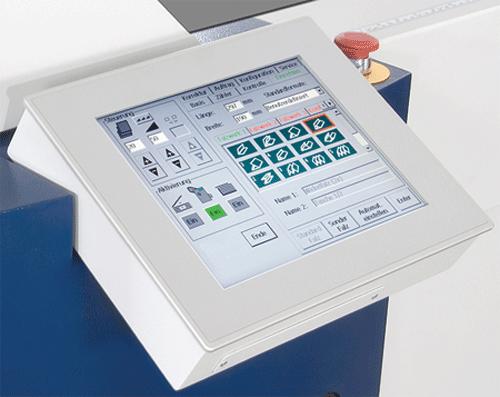 Color touchscreen control panel