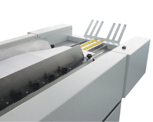 FD 2300 extended air feed system holds up to 1,000 forms