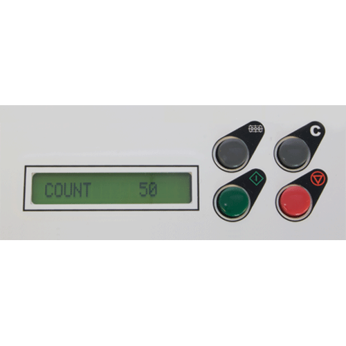 Easy-to-use LCD control panel with resettable counter